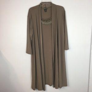 Haani Woman Women's Long Beaded Cardigan Dress